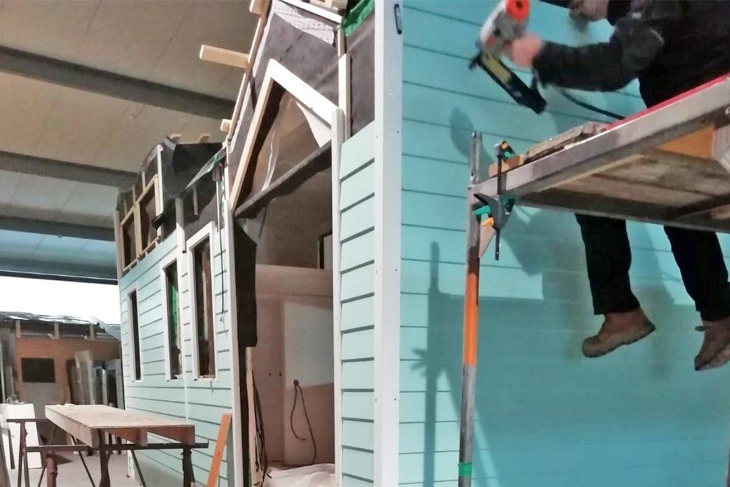 In einer Werkstatt in Bad Bentheim entsteht zurzeit Kathi Wilmers Tiny House.