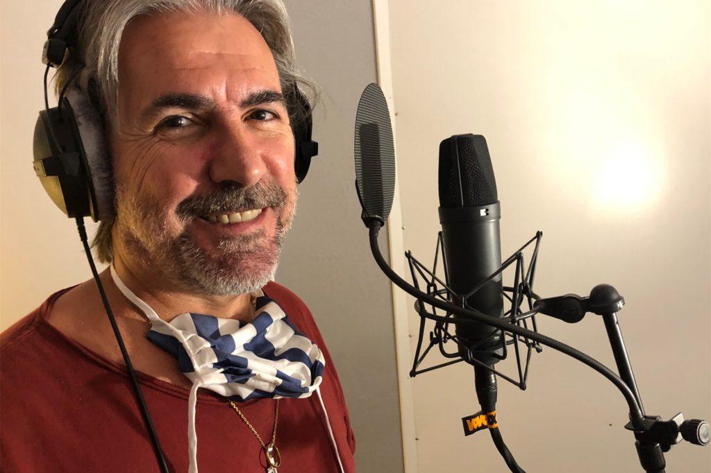 Riccardo Doppio bei den Gesangsaufnahmen für sein neues Album