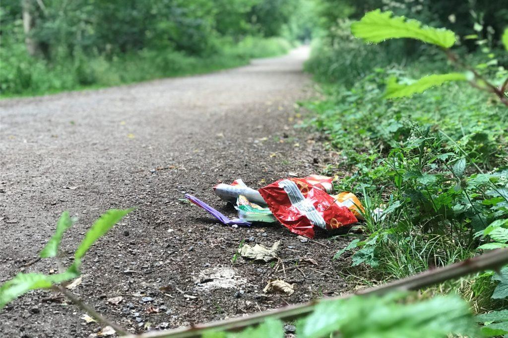 Das Grutholz gilt Spaziergängern, Sportlern, Hundebesitzern und Wanderern als Naturparadies. Aber Müll am Wegesrand ist ein Ärgernis - und keine Ausnahme. (Aufnahme gestellt)