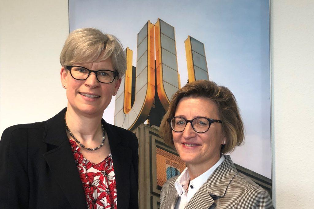 Dr. Regine Schmalhorst (l.) und Heike Bettermann (l.)