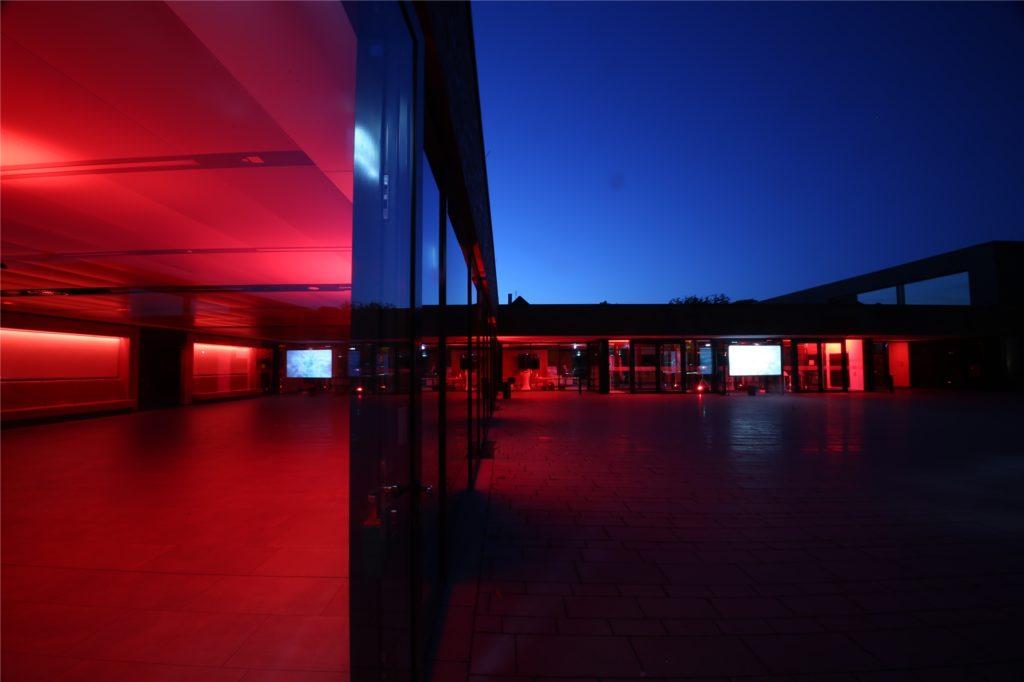 Das Unternehmen Audiokonzept hatte die Beleuchtung installiert. Nicht nur in Ahaus, sondern auch in Gronau.