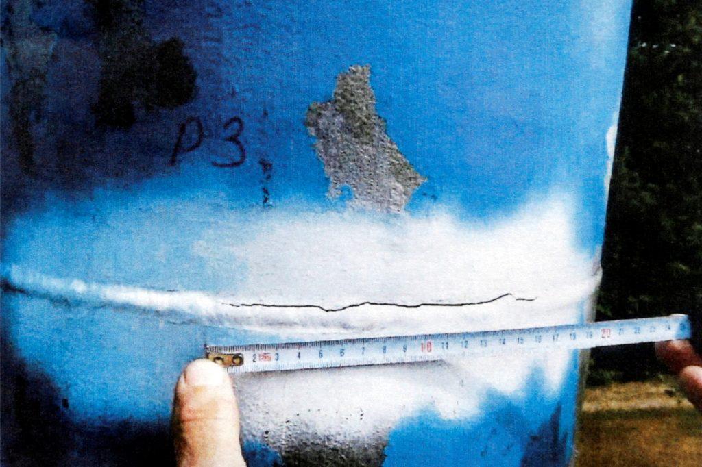 Risse bis zu 16 Zentimetern Länge sind in den Schweißnähten der tragenden Pylone aufgetreten.