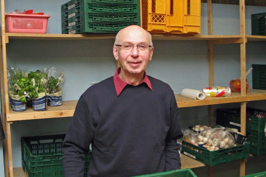 Dieter Schimmel, Koordinator der Tafelausgabe Werne, freut sich, dass es wieder weitergeht.
