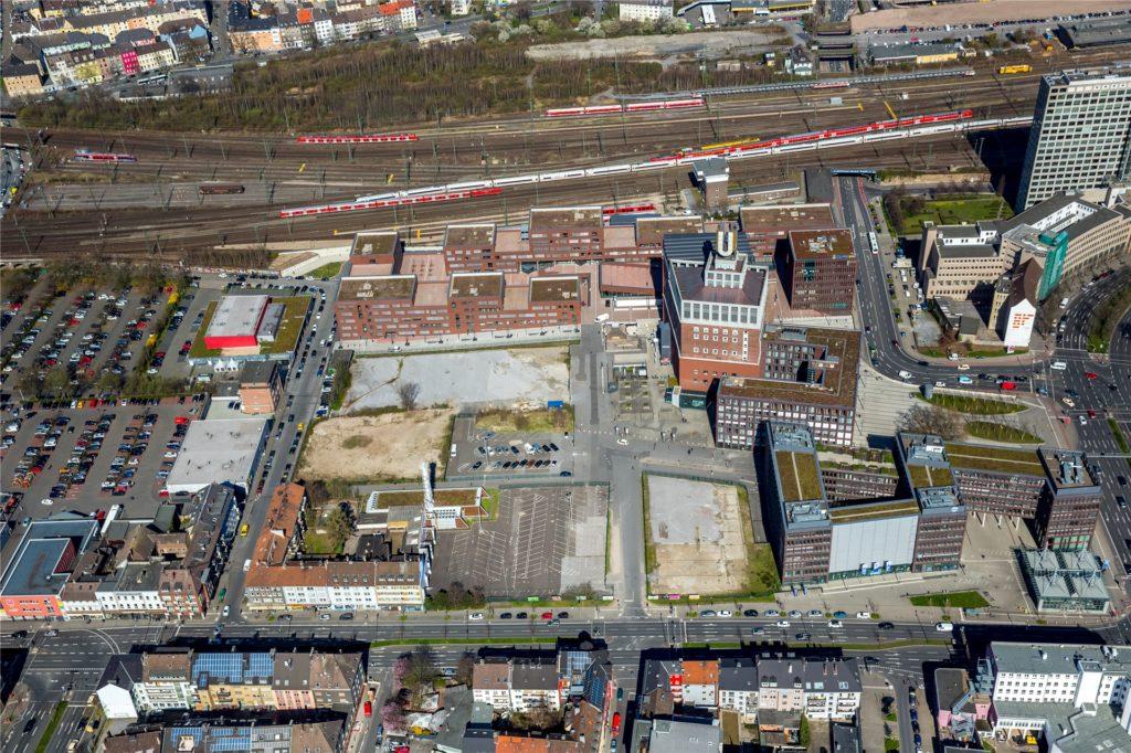 Nach und nach werden sich die Baulücken rund um den U-Turm in den nächsten Jahren schließen.