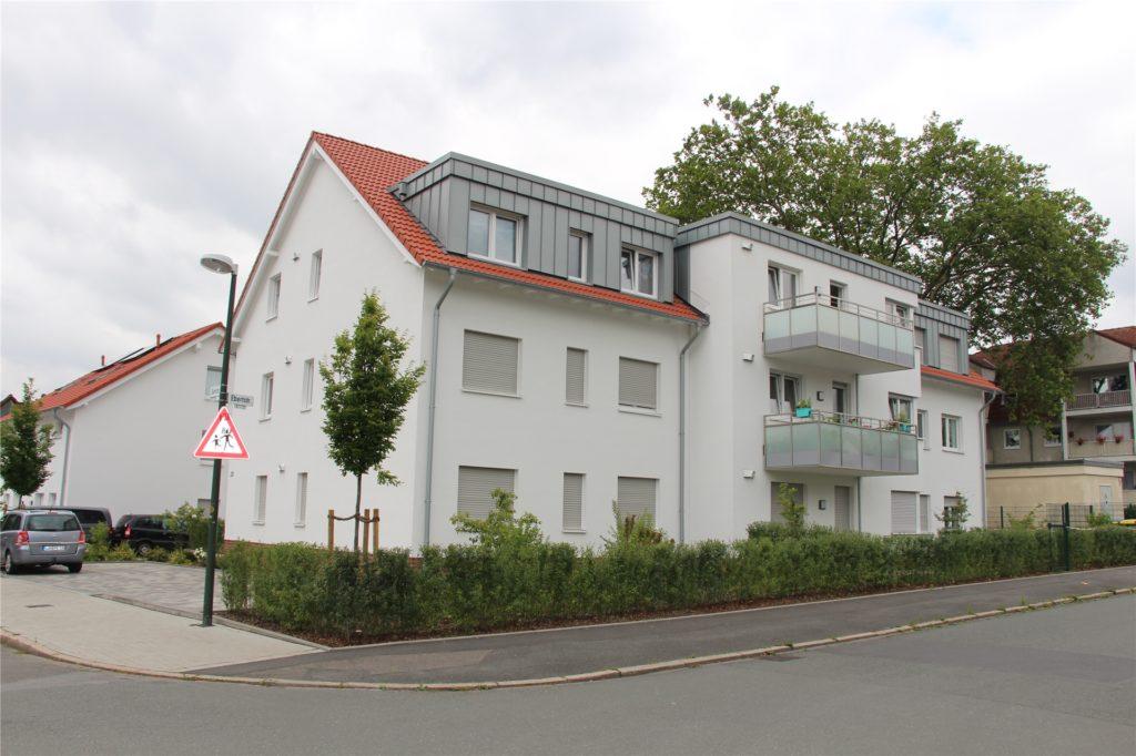 Modern, hell und integriert im Quartier: So sieht die erste von vier neuen Flüchtlingsunterkünften aus -  der Neubau an der Querstraße in Horstmar.