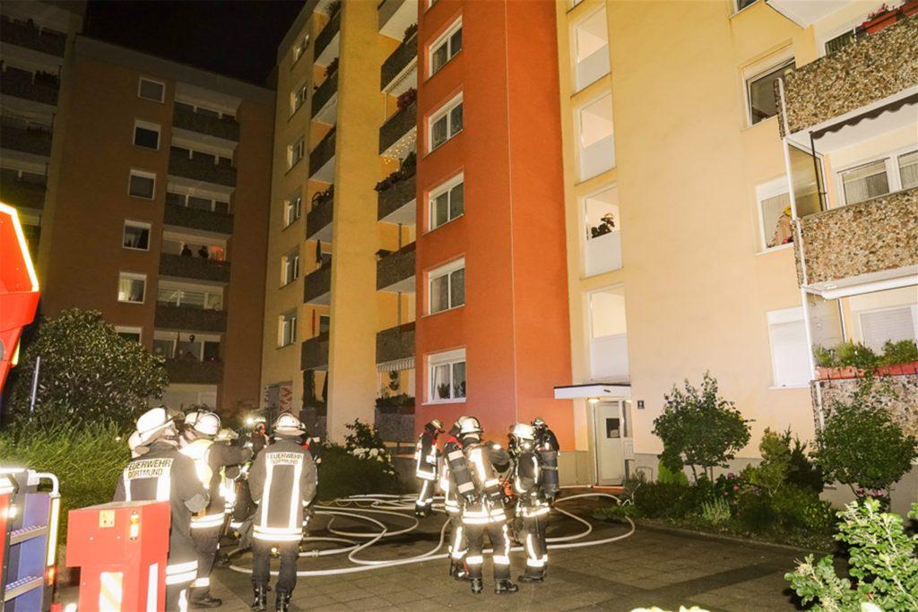Kellerbrand Feuerwehr Dortmund Verraucht