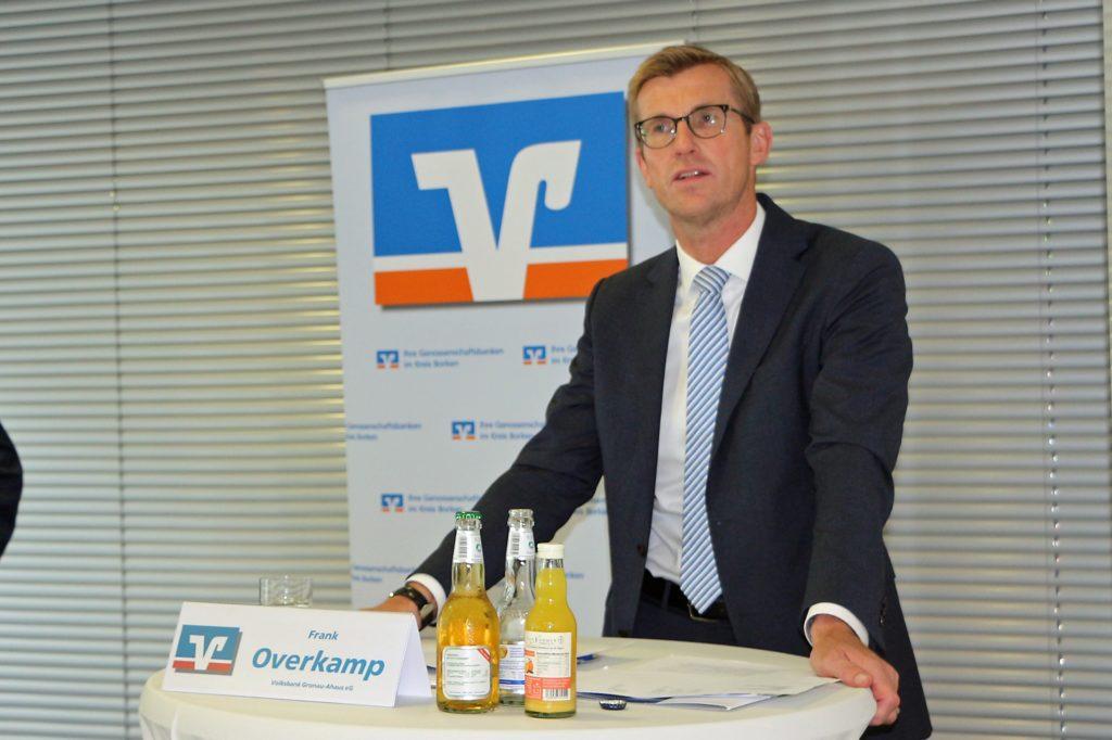 Optimistisch, die Corona-Krise erfolgreich zu bewältigen, zeigte sich der neue Bankensprecher Frank Overkamp. Schon sein Vorgänger Heinz Hüning ist 2008 in einer Krise gestartet.