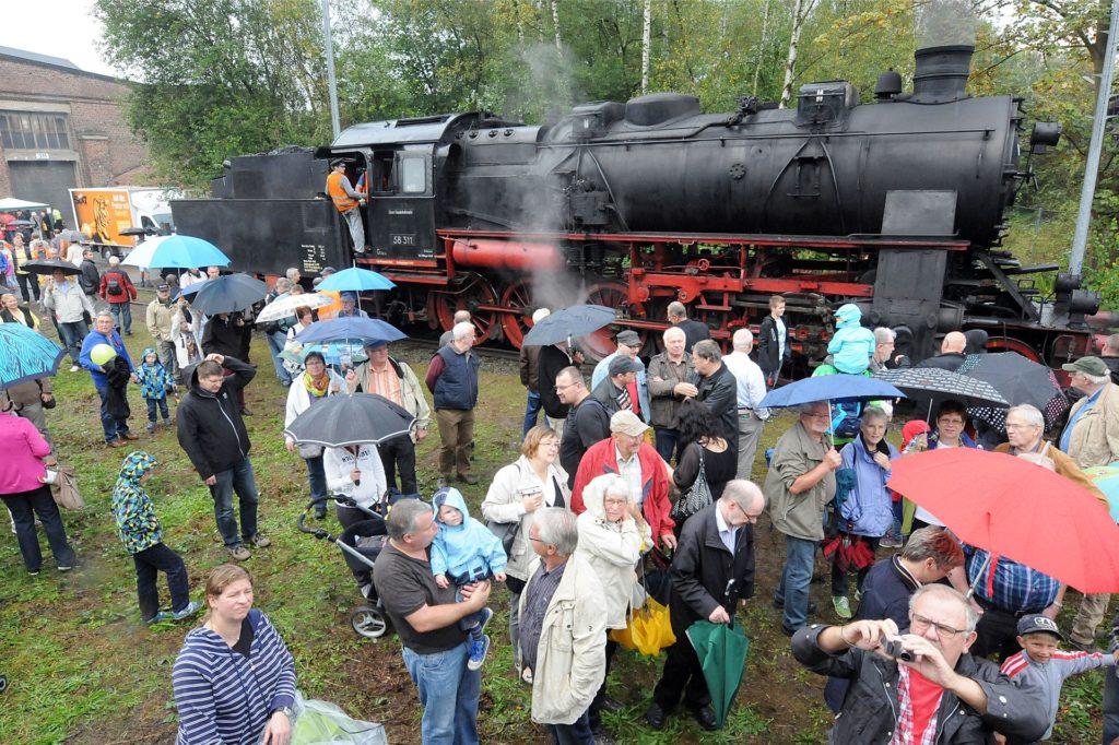 Rund 5000 Besucher lockten die Eisenbahnfreunde mit ihrer Veranstaltung