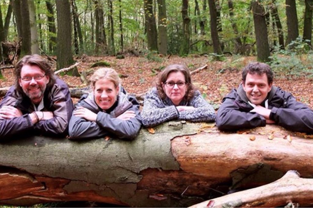 """Uwe, Bettina, Connie und Mario Friedrich sind die """"Waldmeister"""" aus Dortmund."""