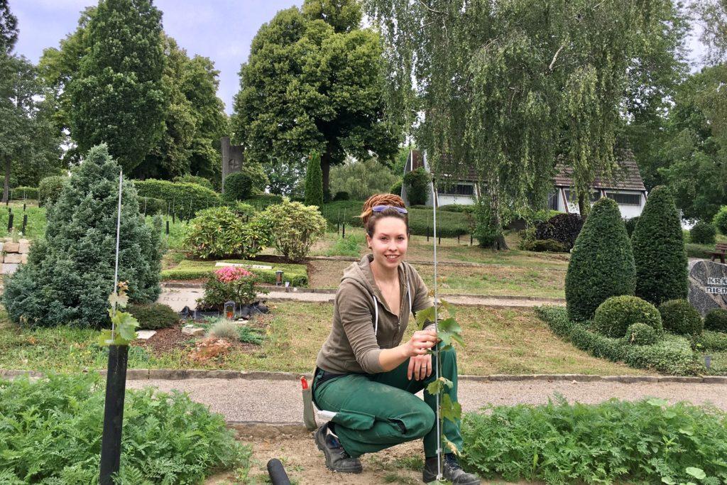 Silvana Reimers, Meisterin Garten- und Landschaftsbau, hat das Ausbildungsprojekt mit betreut.