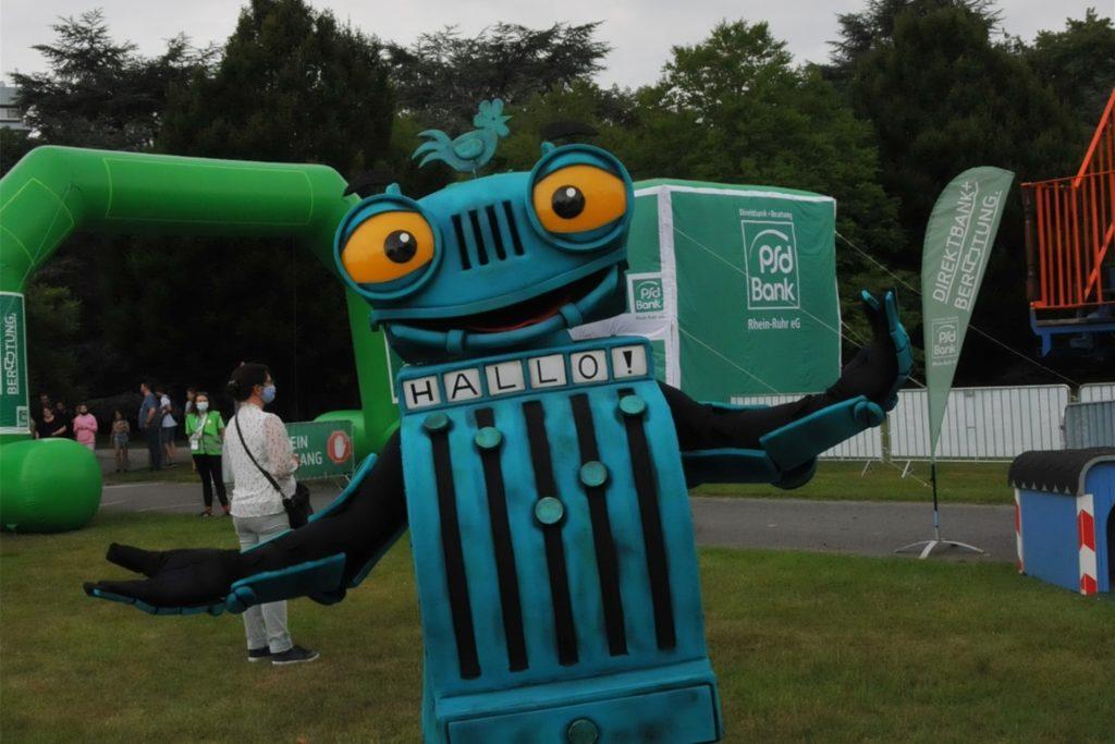 Ritter Rost ist eine der Buch/TV-Figuren, die bis zum Ferienende im Westfalenpark unterwegs sind.