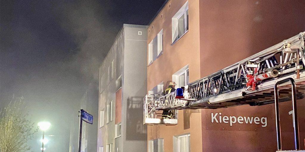 Von der Kellerbrand-Serie im Dortmunder Westen ist auch das Wohnungsunternehmen Vonovia betroffen. Das Haus am Kiepeweg 1 in Westerfilde gehört zu den Beständen des Unternehmens.