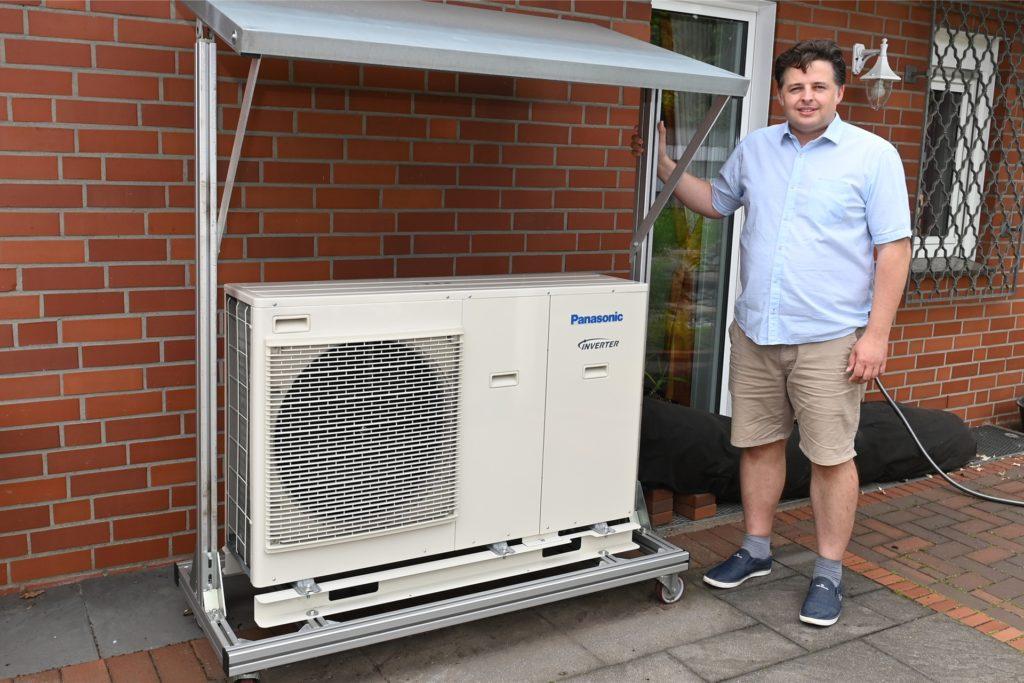 Christian Feldmann setzt auf Photovoltaik und Luftwärmepumpe, um möglichst wenig CO2 in die Umwelt abzugeben.