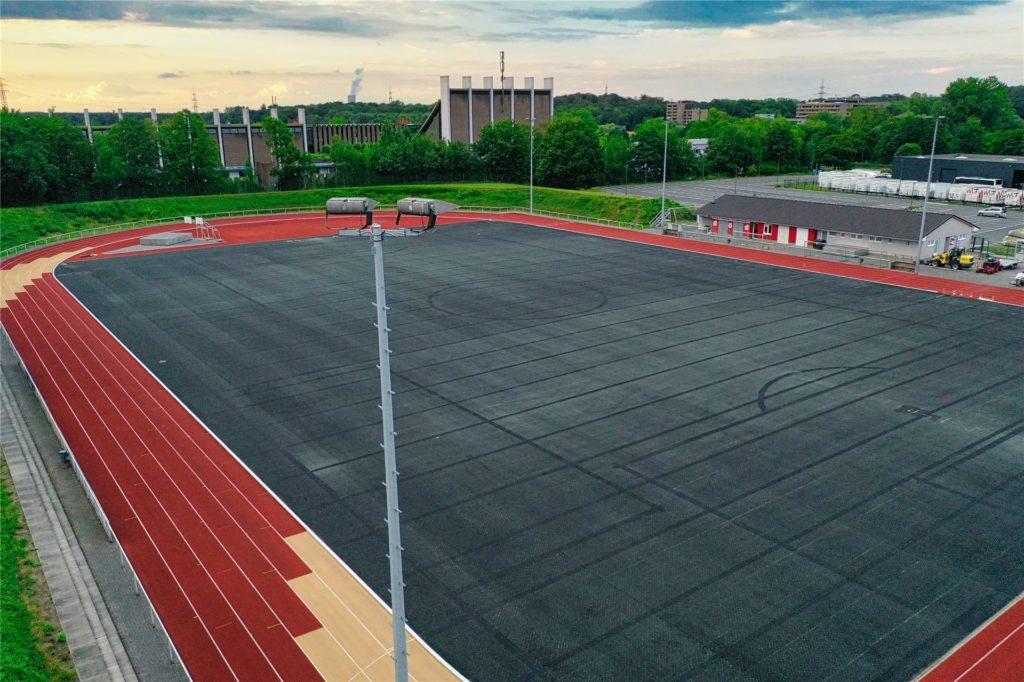 Einige Tage lang war das Stadion an der Bahnhofstraße