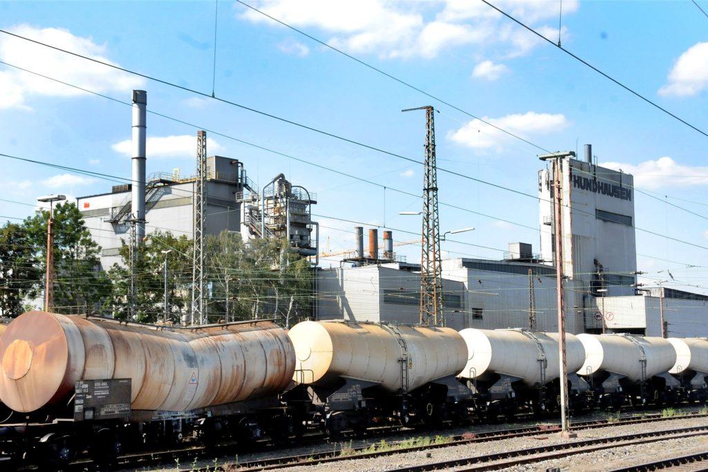 Seit 100 Jahren prägen die Anlagen der Firma Hundhausen das Gelände nördlich vom Bahnhof Schwerte.