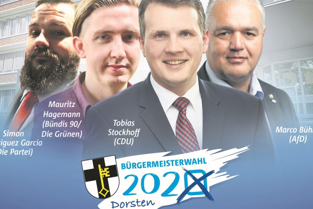 Das Bürgermeisterkandidaten-Quartett in Dorsten ist komplett.