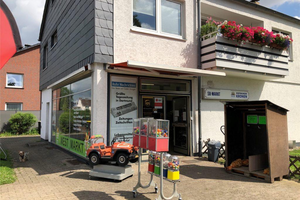 So sieht der neue West-Markt an der Ecke Westkamp / Sendstraße von außen aus