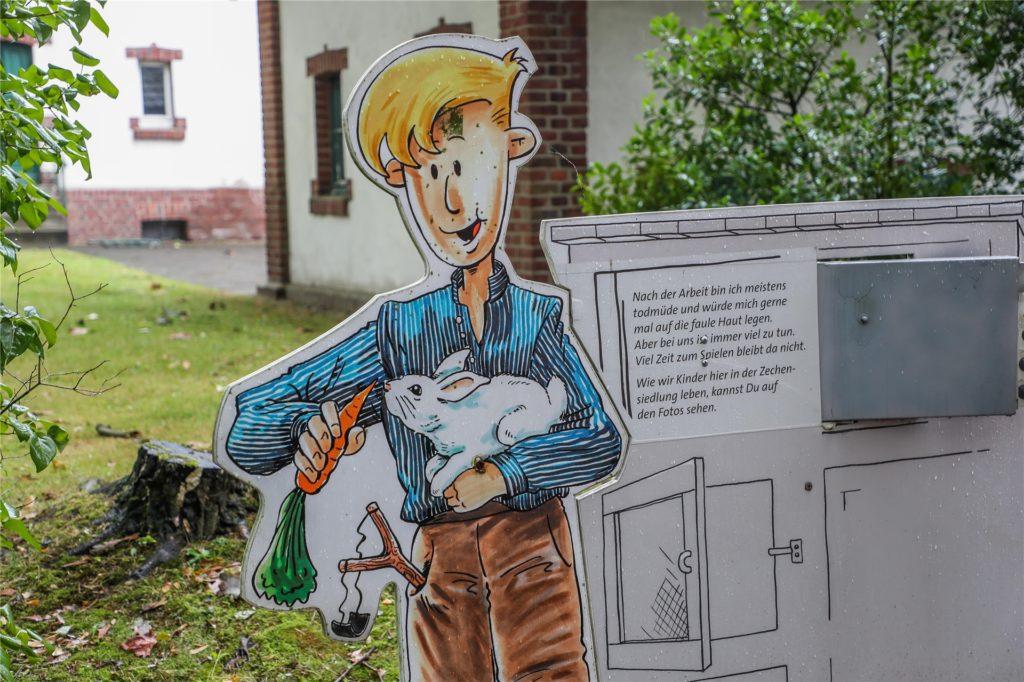 Berglehrling Franz zeigt die Geschichte des Arbeitsalltags auf der Zeche und in der benachbarten Siedlung.