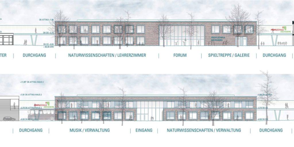 Der Neubau der Profilschule soll unter anderem die Naturwissenschaften und die Musikräume beherbergen.