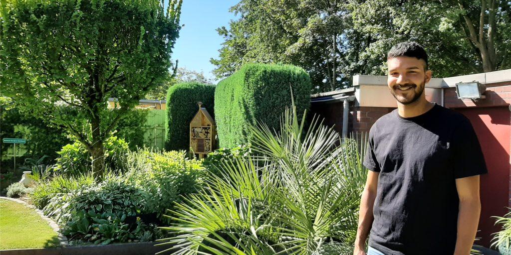 Robin Gordon (27) verwirklicht seine eigenen Pläne im Garten. Von seinem Opa hat er die Leidenschaft des Gärtnerns übernommen.