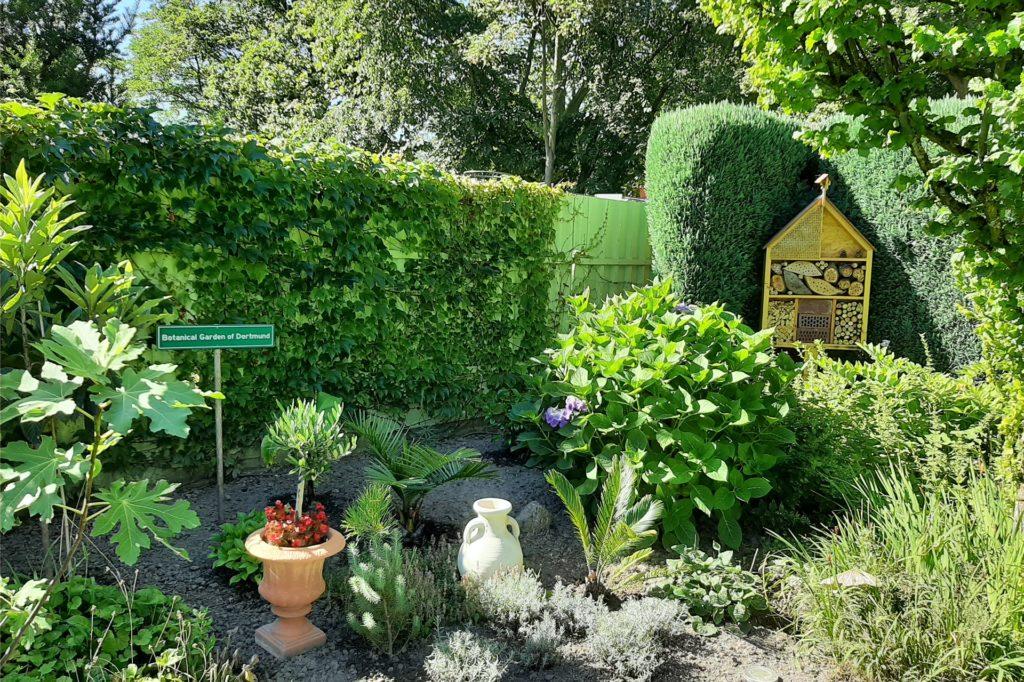 Der Garten des 27-Jährigen ist unterteilt in eine mediterrane Seite und eine asiatische. Die mediterrane Seite schmücken zum Beispiel römische Amphoren.