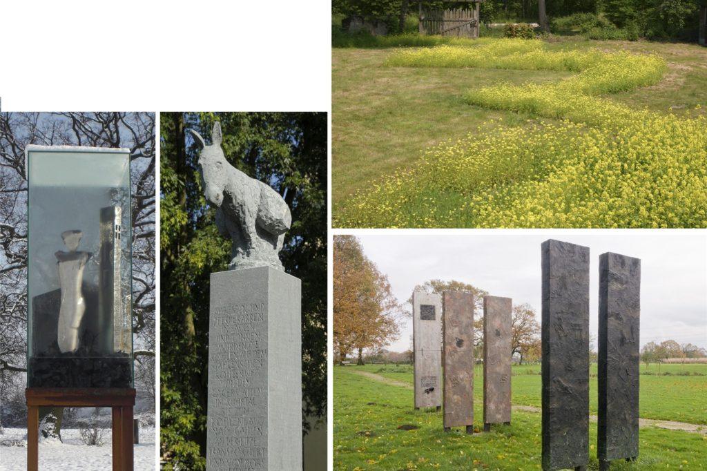 Collage mit Beiträgen, die die Künstler zum Dorstener Teil der