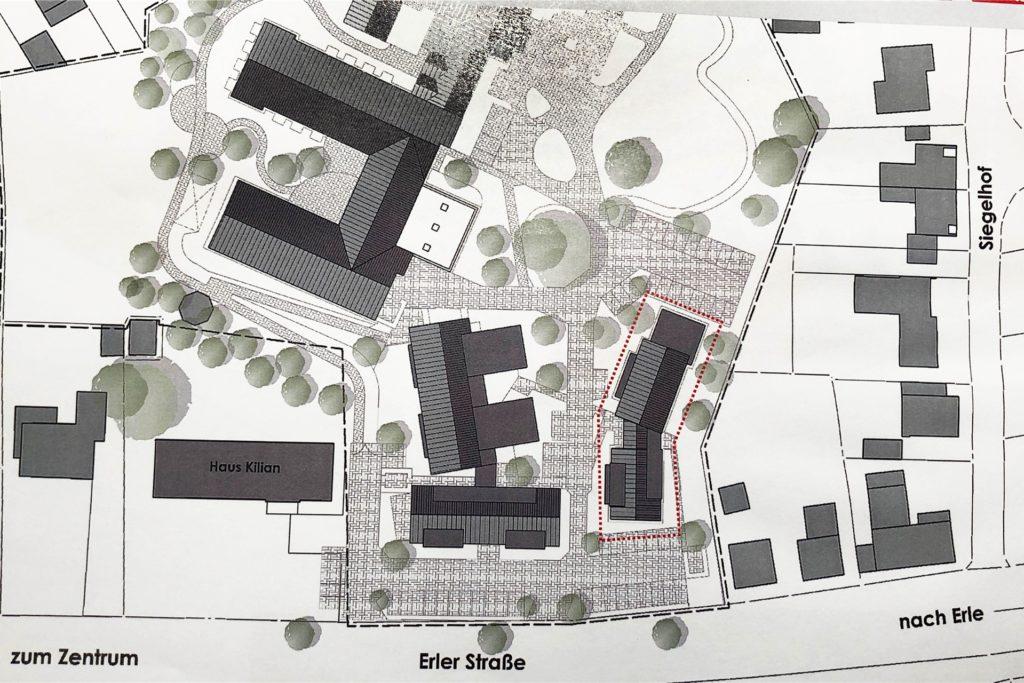 Der Lageplan, wie nach dem Umbau das Marienheimgelände aussehen soll.