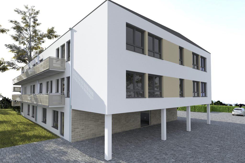 So soll der neue Kindergarten an der Bayrischen Straße aussehen, wenn er fertig ist.