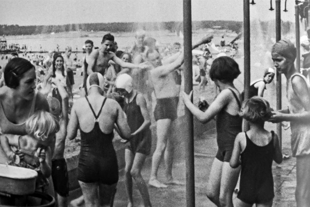 Badebetrieb am Stausee 1936.