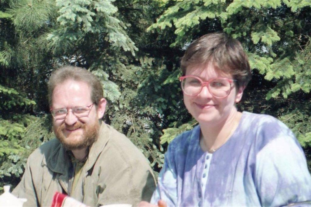 Martin und Birgit Speitel im Jahr 1991. 1985 haben sie die Praxis in Bork übernommen.