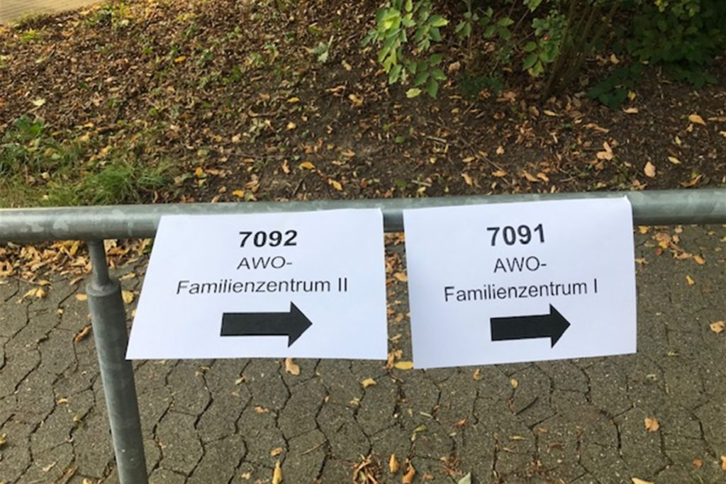 Der Weg ins Wahllokal, hier ins Awo-Familienzentrum.