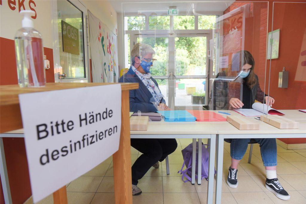 Ein Wahlraum ist das, was man gemeinhin Wahllokal nennt. 37 davon gibt es bei der Kommunalwahl 2020 in Schwerte. Hier zu sehen: die Friedrich-Kayser-Schule.