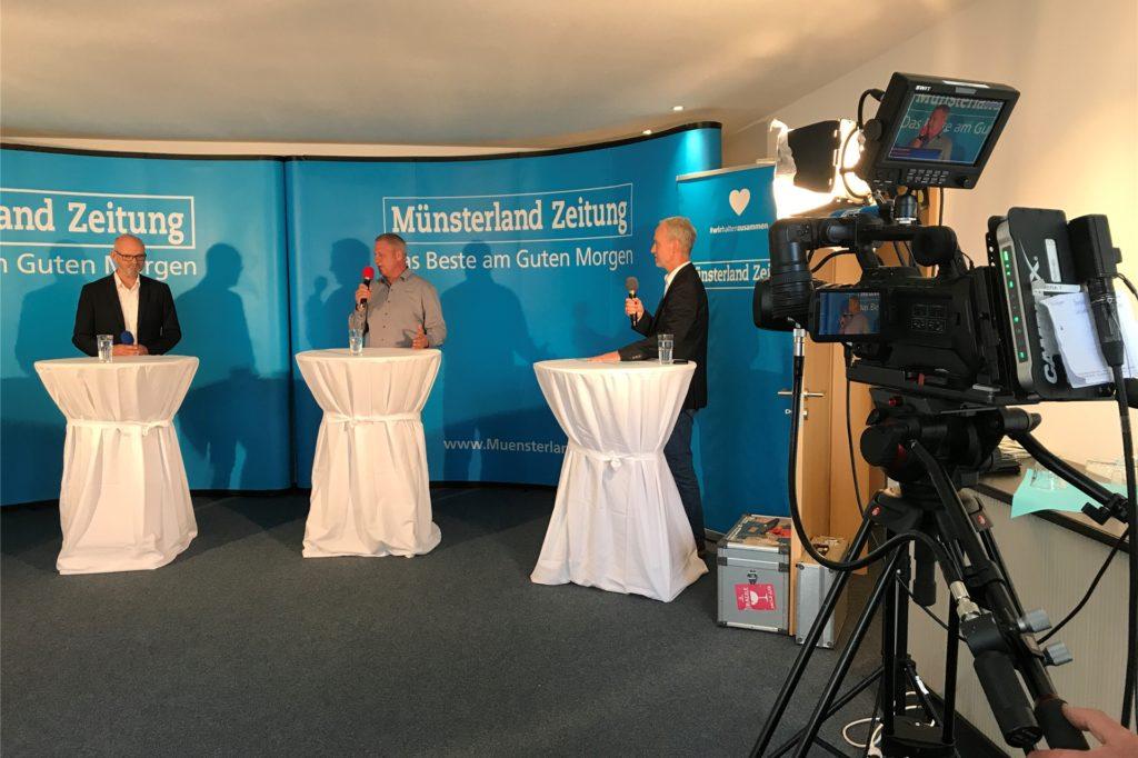 Die Talkrunde wurde live auf der Homepage der Münsterland Zeitung übertragen.