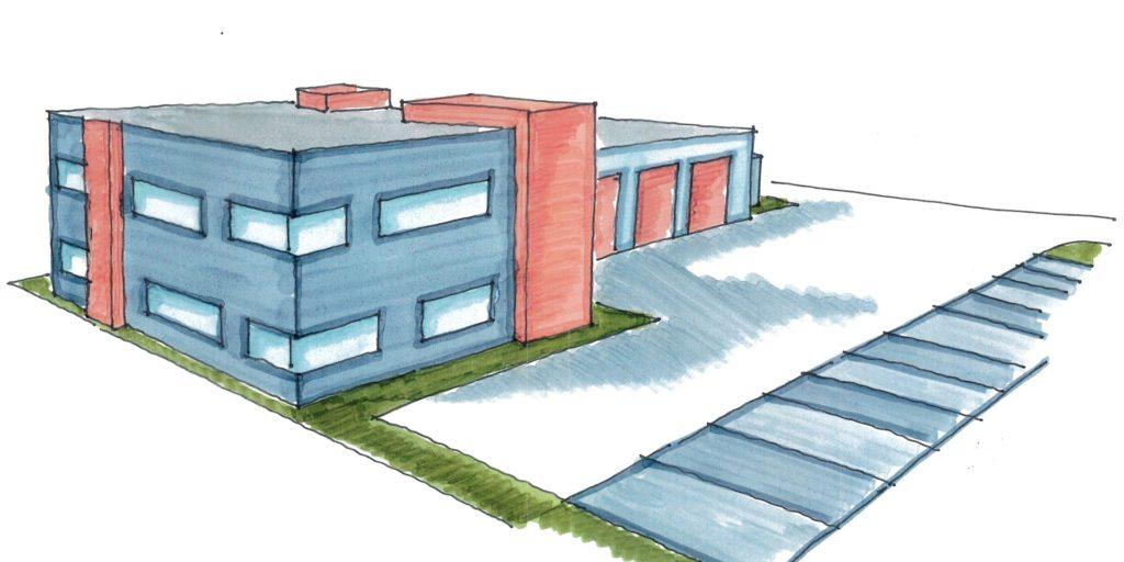 So stellt sich der Architekt den Neubau der Rettungswache Selm vor.