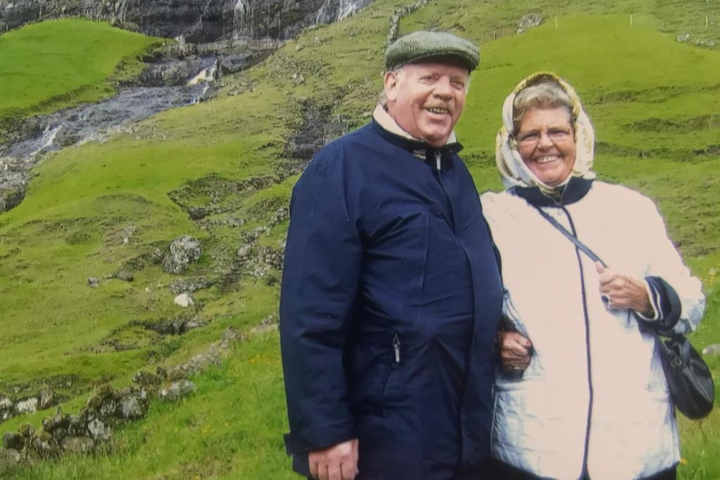 Das Ehepaar auf Nordlandfahrt.