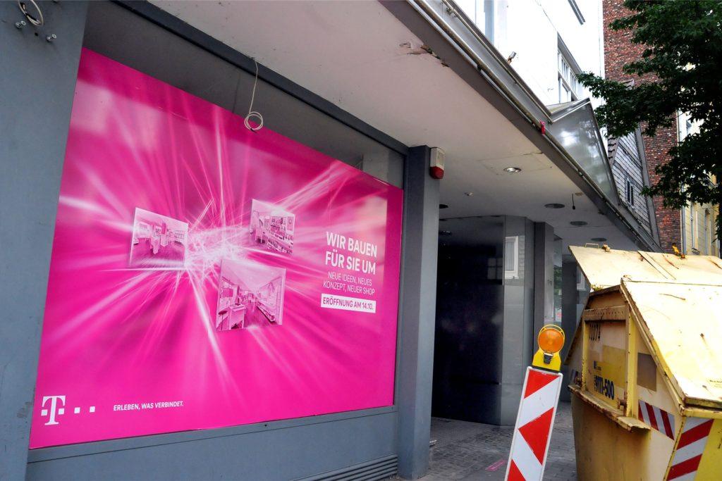 Der Telekom-Laden in der Hüsingstraße wird umgebaut.