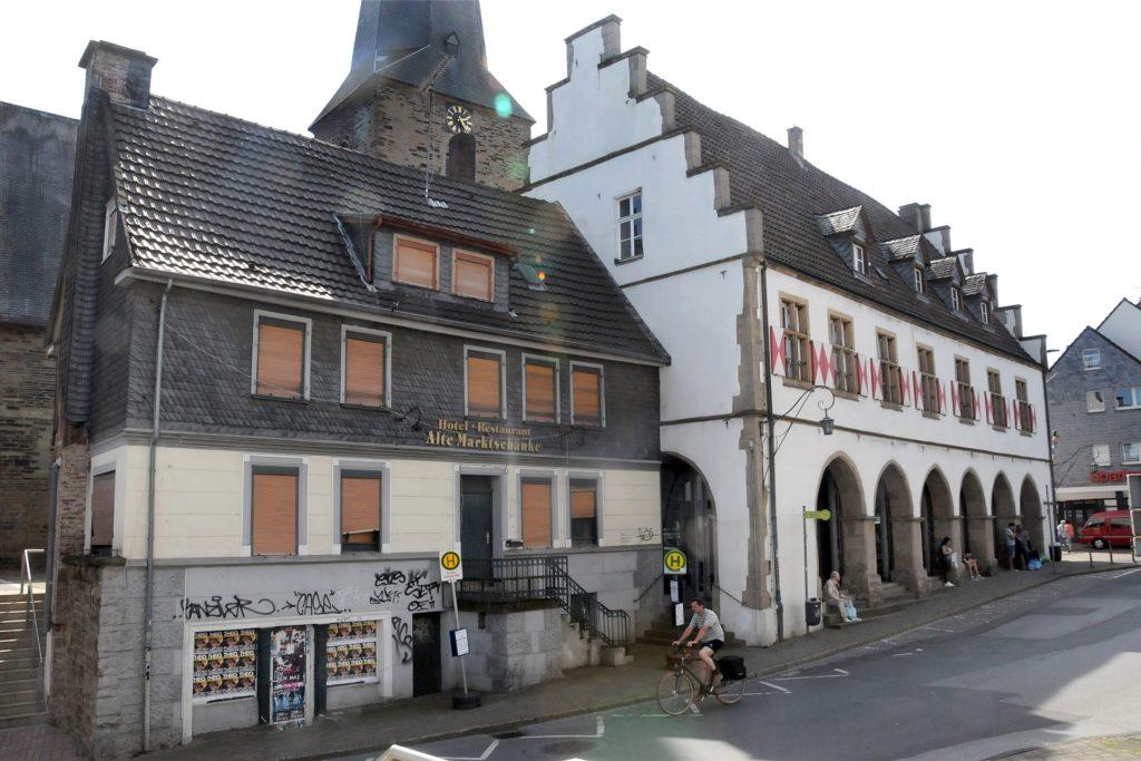 Seit mehr als zehn Jahren ist die Alte Marktschänke schon geschlossen. Das Gebäude soll mit dem benachbarten Ruhrtalmuseum und dem neuen Evangelischen Gemeindezentrum zu einem Gesamtensemble umgebaut werden.