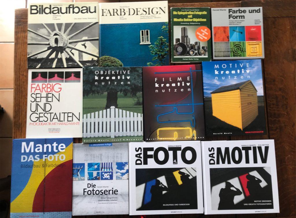 Zwölf Fachbücher, von 1969 bis 2020: Wesentliche Bestandteile von Harald Mantes Werk auf eine Blick.