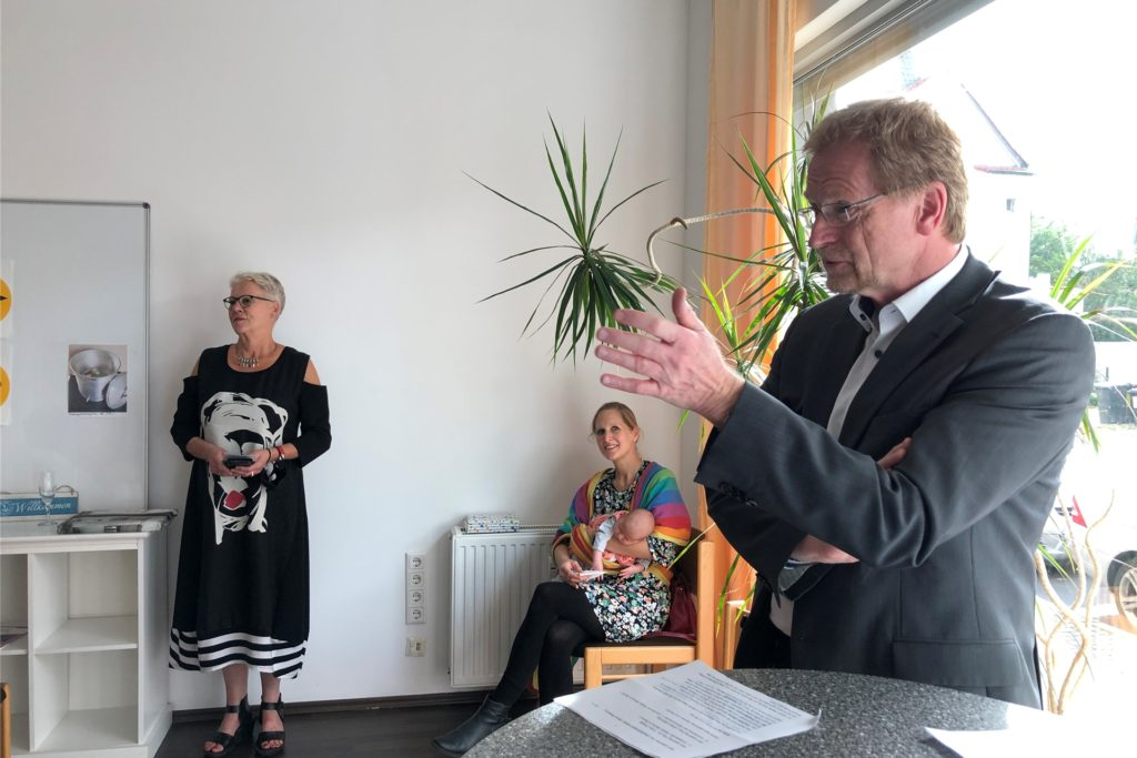 Stadtrat Ludger Wilde wünschte dem Projekt in einer kurzen Begrüßungsansprache gutes Gelingen