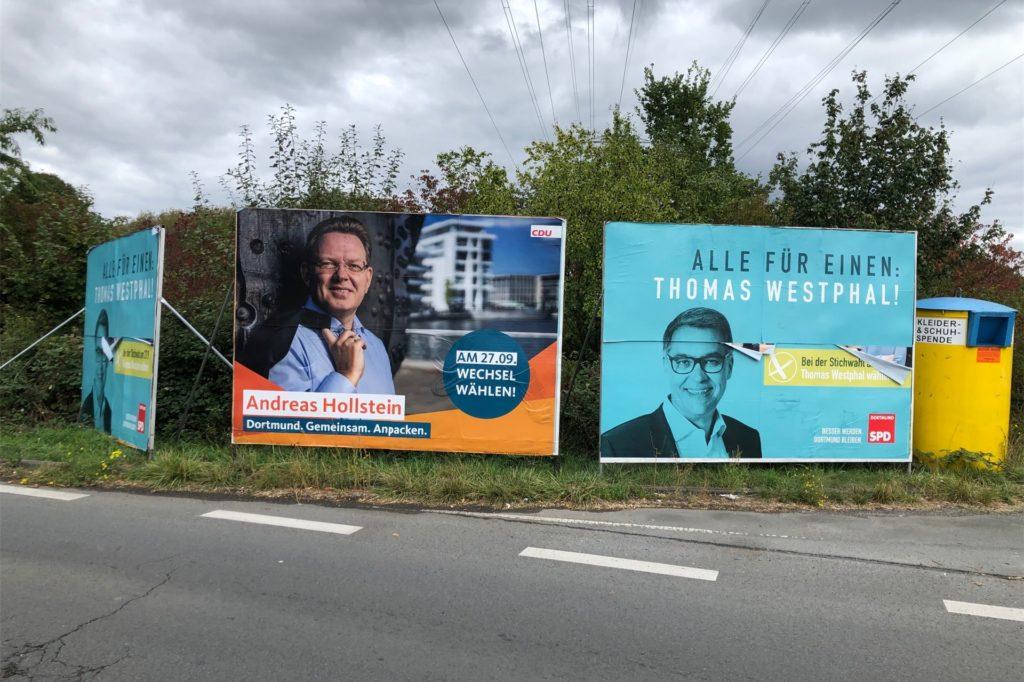 Den Wesselmann der Grünen hat die SPD für ihre Stichwahl-Werbung übernommen.