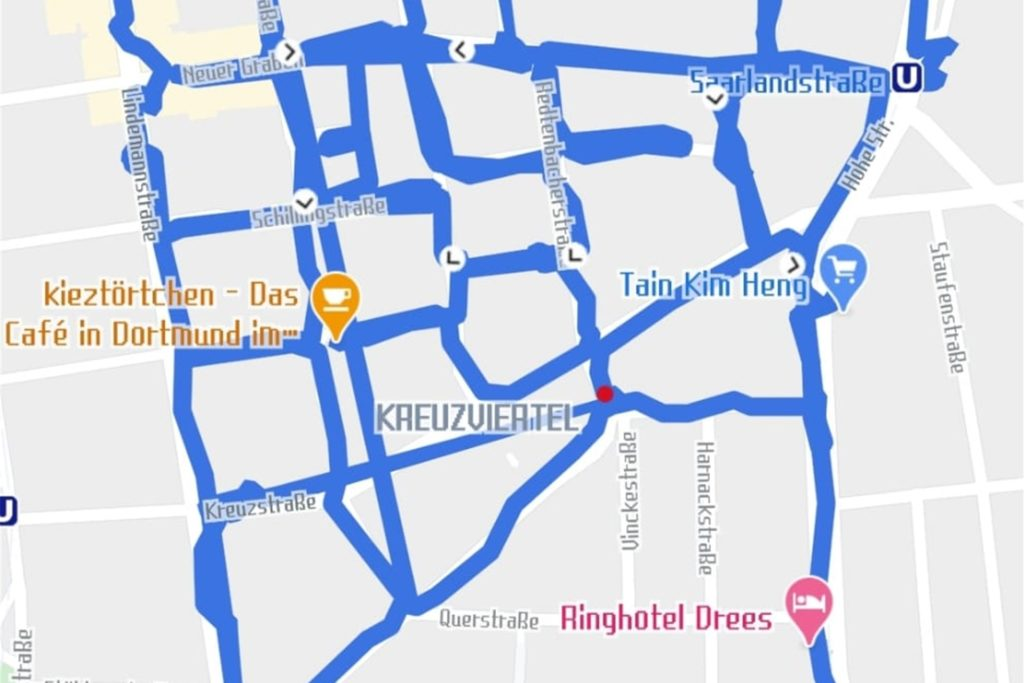 Mit einer Tracking-App zeichnen die Corona-Geisterjäger ihre Route auf, um keinen Weg zweimal zu fahren.