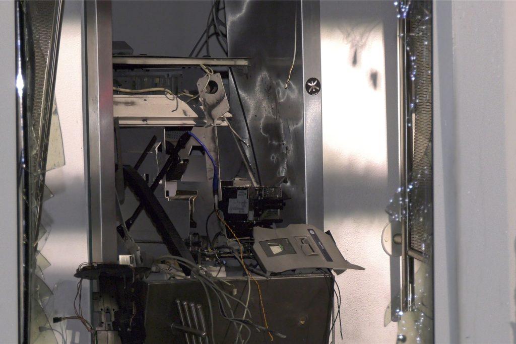 Der zerstörte Geldautomat