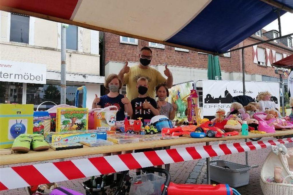 Beim Kinderflohmarkt gibt es für die Kinder fest zugewiesene Stände.