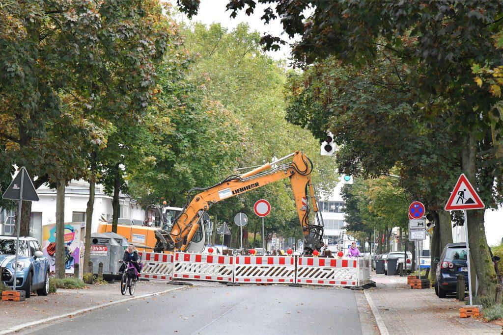 Die Cappenberger Straße ist noch bis zum 6. November gesperrt.