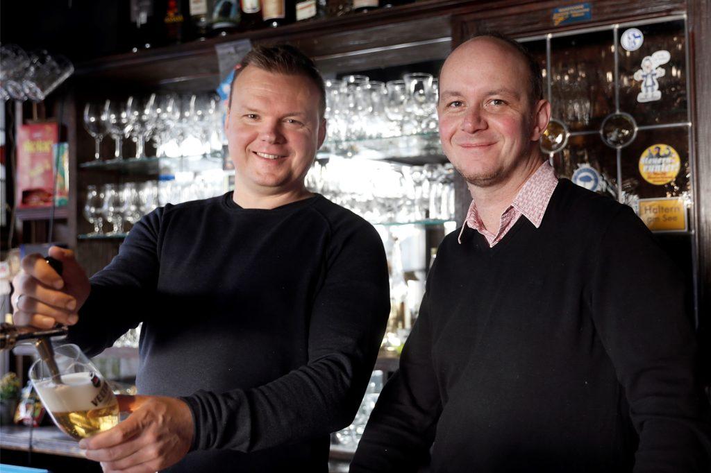 Andreas Kleimann und Christian Zehren (v.l.) wollen dem bevorstehenden Winter mit einer kreativen Idee begegnen.