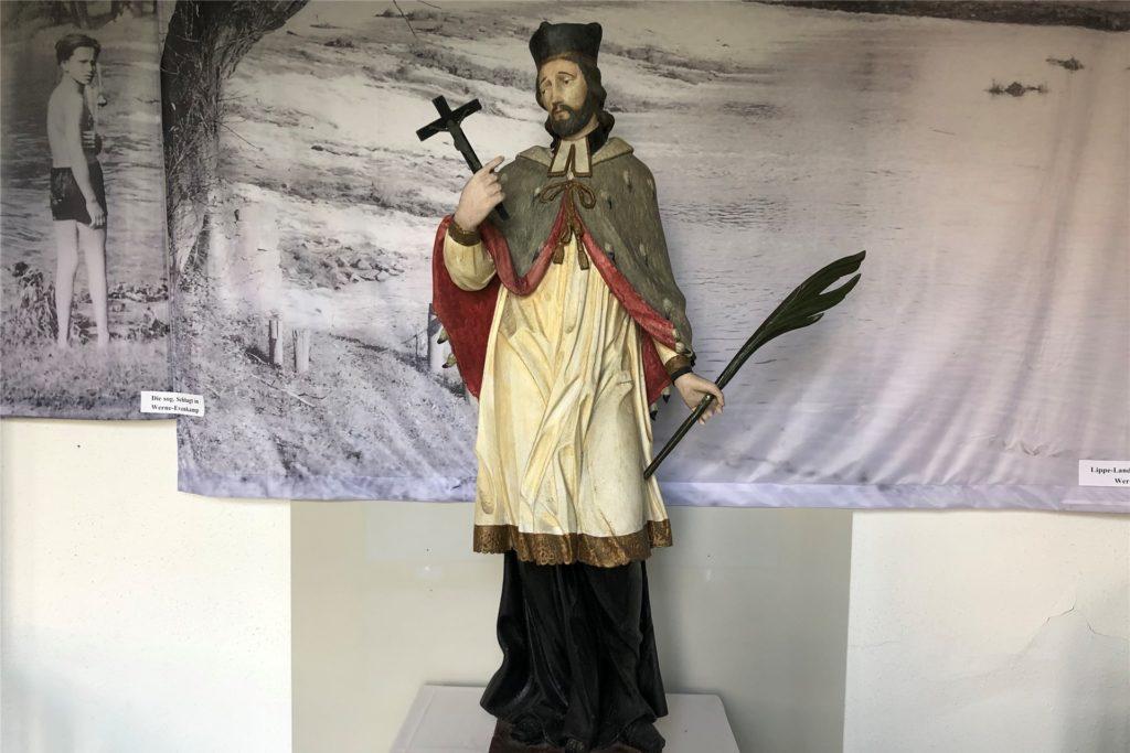 Die Statue des Heiligen Nepomuk befindet sich derzeit im Stadtmuseum.