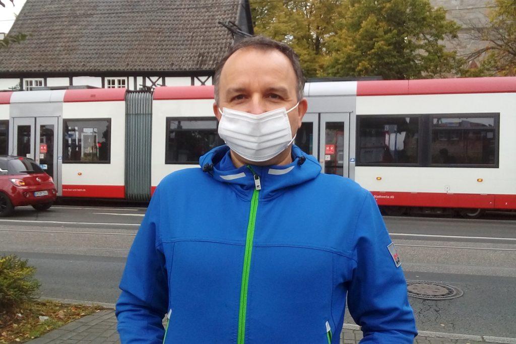 Thomas aus Wambel findet die Maskenpflicht gut.