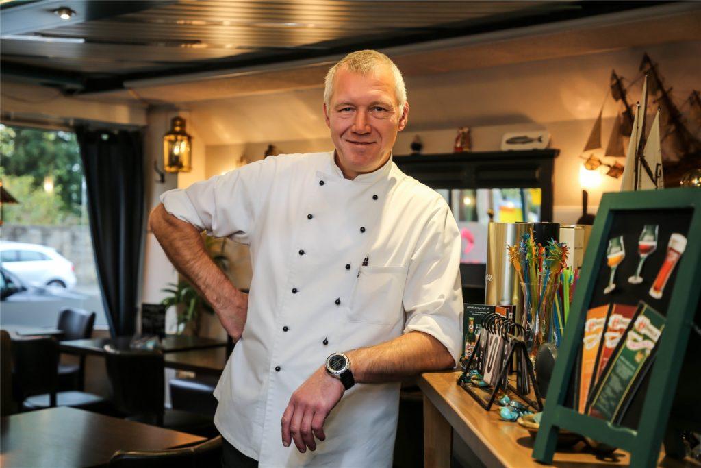 Frank Wahl vom Restaurant Wahl Fisch lobt seine Kunden.