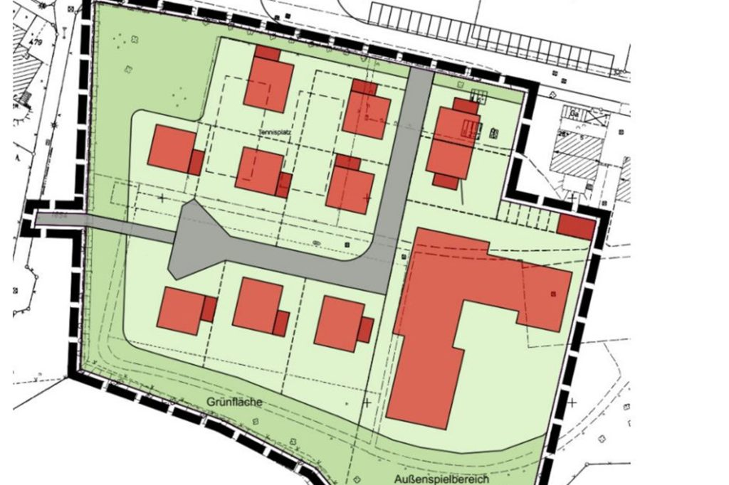 So sieht das Nutzungskonzept für das Wohngebiet samt Kindertagesstätte vor.