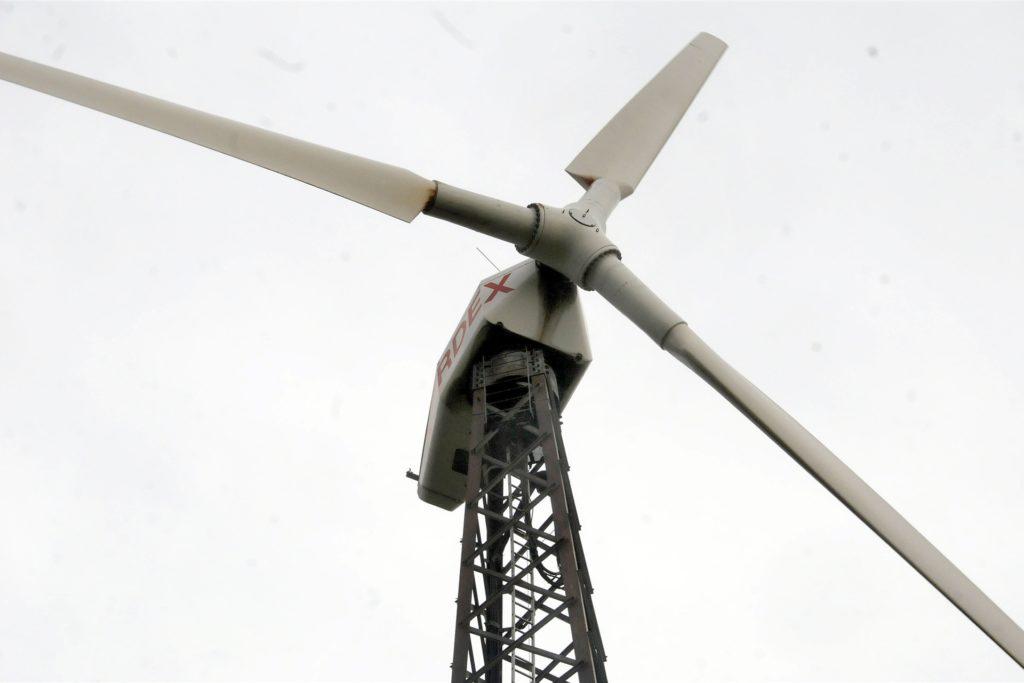 Einen Durchmesser von 27 Metern haben die Rotoren des Bürgerwindrads auf dem Bürenbruch.
